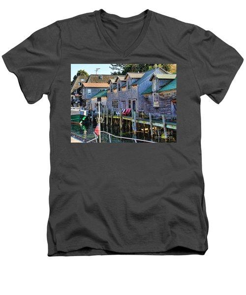 Fishtown Leland Michigan Men's V-Neck T-Shirt