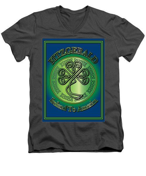 Fitzgerald Ireland To America Men's V-Neck T-Shirt