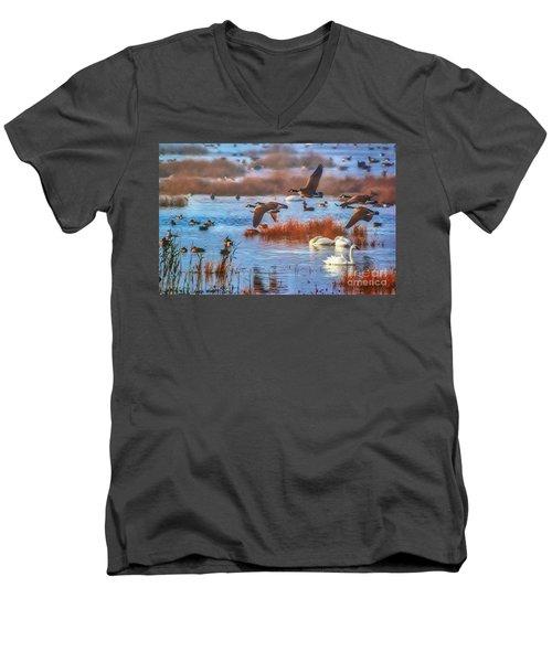 Five Canadians Men's V-Neck T-Shirt