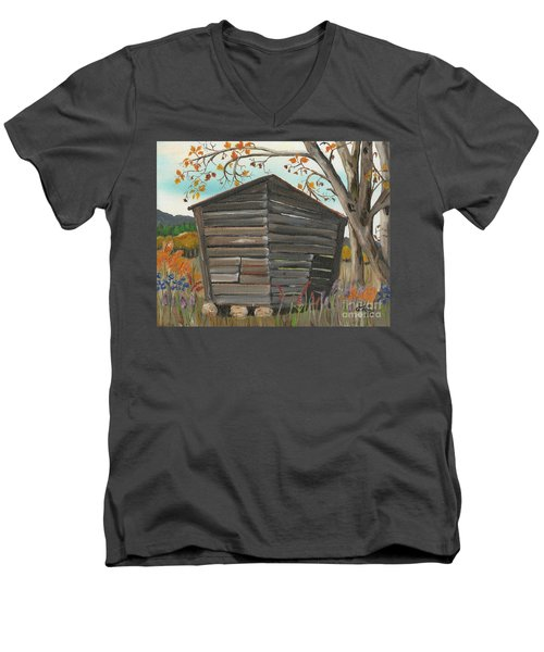 Autumn - Shack - Woodshed Men's V-Neck T-Shirt