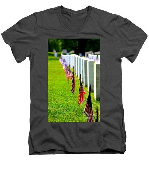 Flags In Men's V-Neck T-Shirt