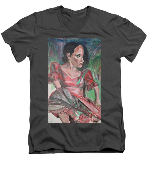 Flamenco Solo Men's V-Neck T-Shirt