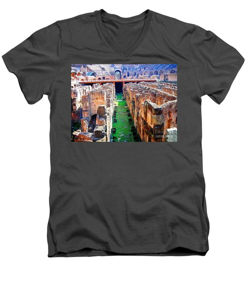 Flavian Amphitheatre Men's V-Neck T-Shirt