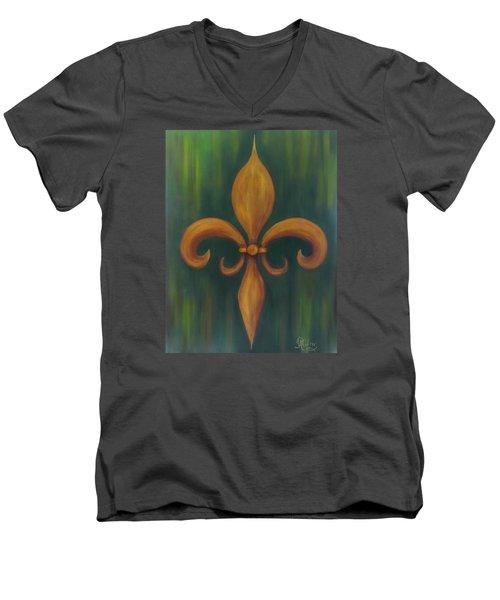 Fleur-de-lis Men's V-Neck T-Shirt