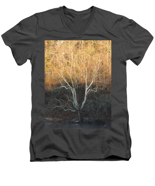 Men's V-Neck T-Shirt featuring the photograph Flint River 12 by Kim Pate