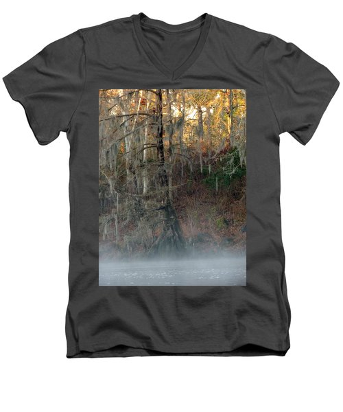 Men's V-Neck T-Shirt featuring the photograph Flint River 15 by Kim Pate