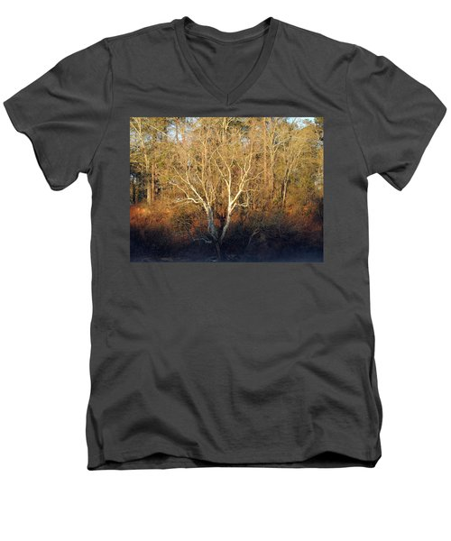 Men's V-Neck T-Shirt featuring the photograph Flint River 16 by Kim Pate