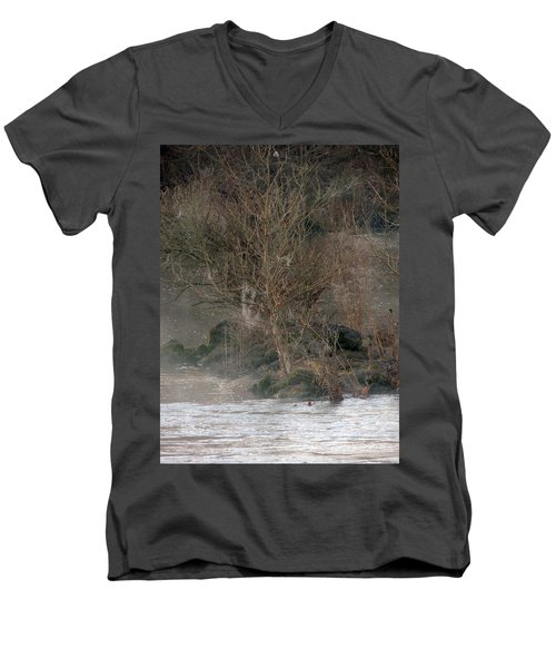 Men's V-Neck T-Shirt featuring the photograph Flint River 19 by Kim Pate