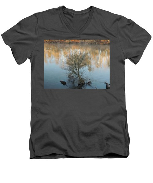 Men's V-Neck T-Shirt featuring the photograph Flint River 24 by Kim Pate