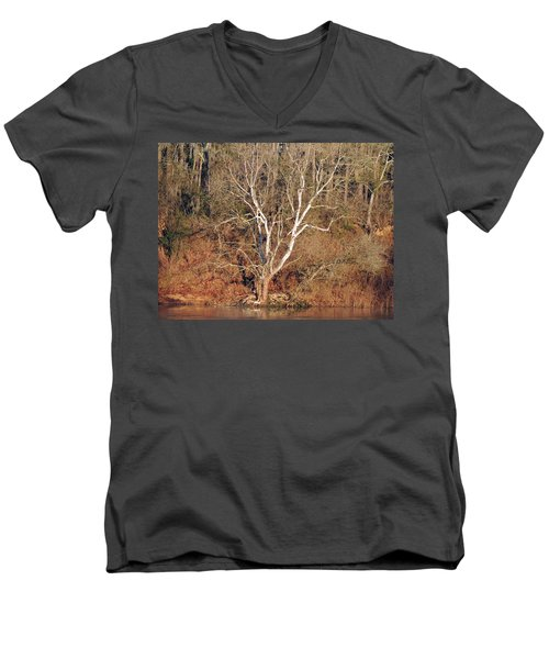 Men's V-Neck T-Shirt featuring the photograph Flint River 25 by Kim Pate