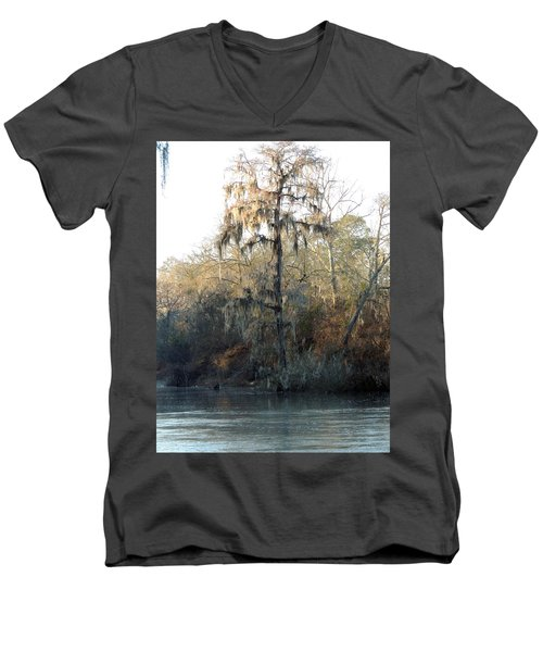 Men's V-Neck T-Shirt featuring the photograph Flint River 30 by Kim Pate