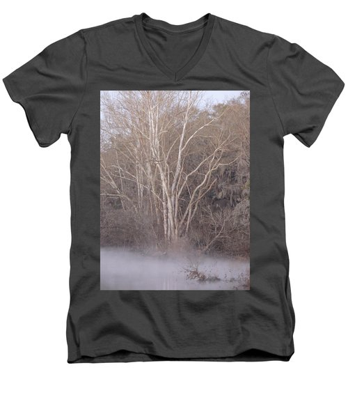 Men's V-Neck T-Shirt featuring the photograph Flint River 9 by Kim Pate