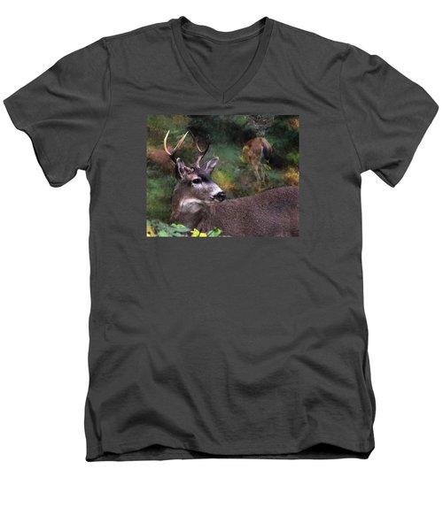 Men's V-Neck T-Shirt featuring the photograph Flirt by I'ina Van Lawick