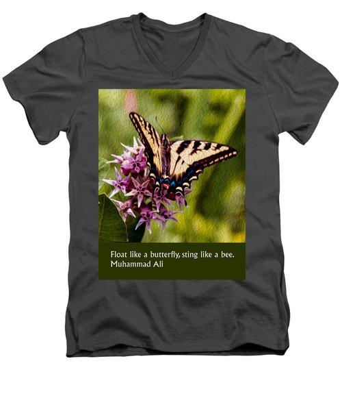 Float Like A Butterfly Men's V-Neck T-Shirt