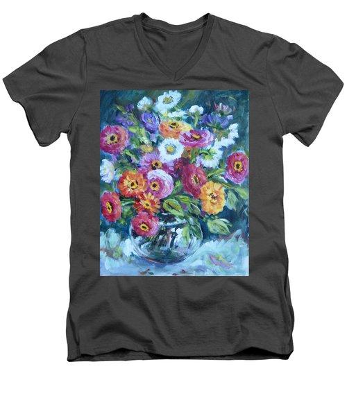 Floral Explosion No. 2 Men's V-Neck T-Shirt