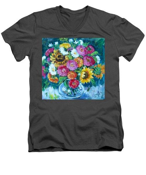 Floral Explosion No.1 Men's V-Neck T-Shirt