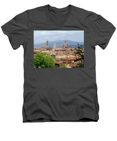 Florence Men's V-Neck T-Shirt by Ellen Henneke