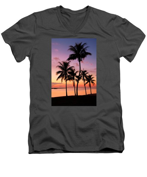 Florida Breeze Men's V-Neck T-Shirt by Chad Dutson