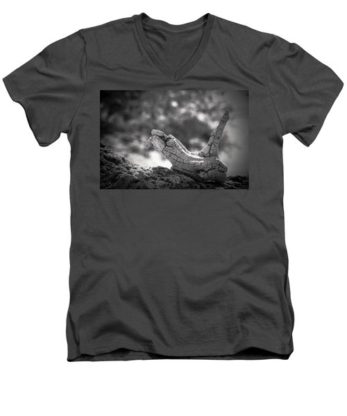 Men's V-Neck T-Shirt featuring the photograph Florida Keys Driftwood by Bradley R Youngberg