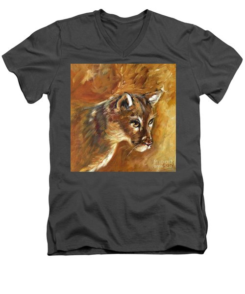 Florida Panther Men's V-Neck T-Shirt