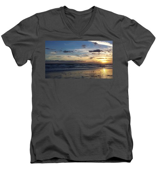 Men's V-Neck T-Shirt featuring the photograph Florida Sunrise by Ally  White