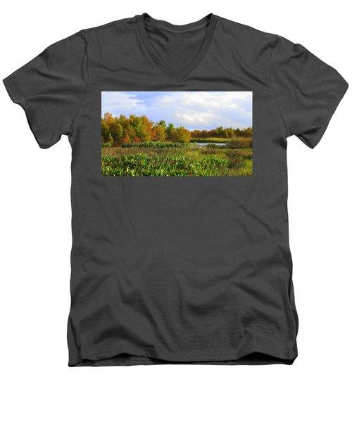 Florida Wetlands August Men's V-Neck T-Shirt