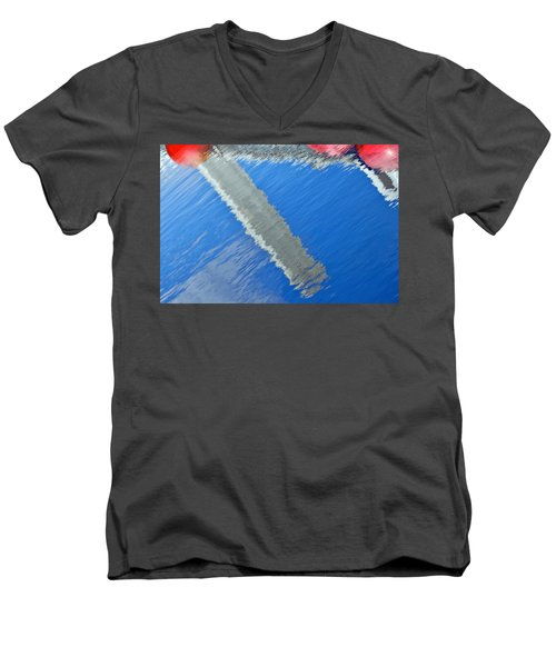 Floridian Abstract Men's V-Neck T-Shirt by Keith Armstrong