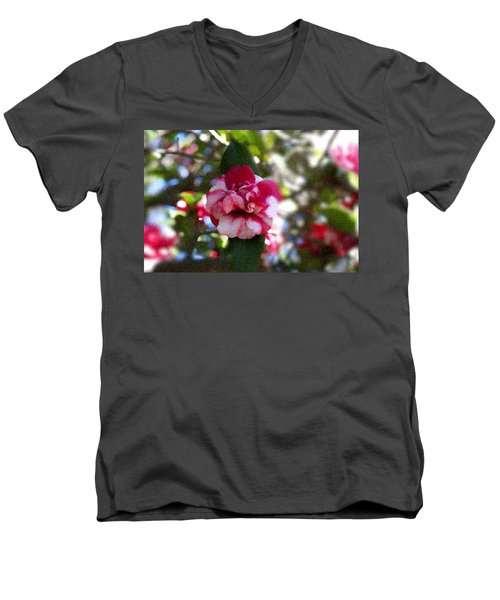 Flower Men's V-Neck T-Shirt