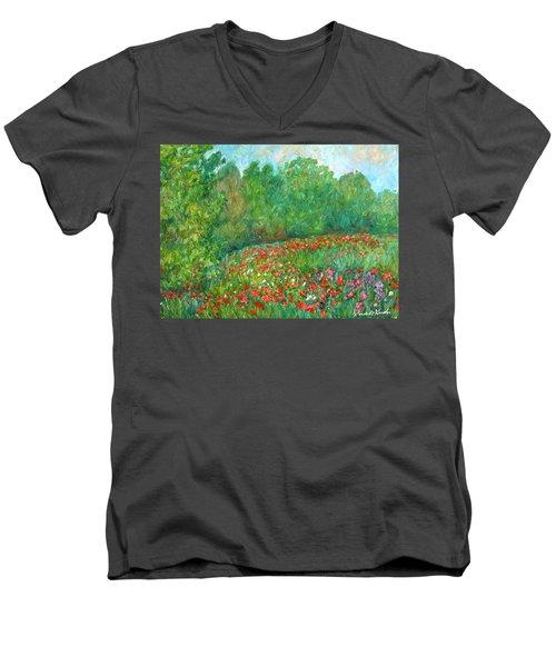 Flower Field Men's V-Neck T-Shirt