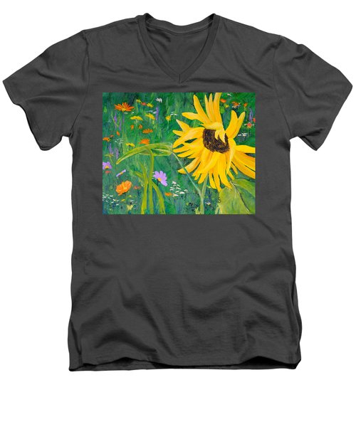Flower Fun Men's V-Neck T-Shirt
