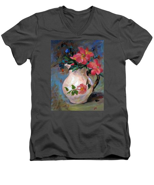 Flower In Vase Men's V-Neck T-Shirt