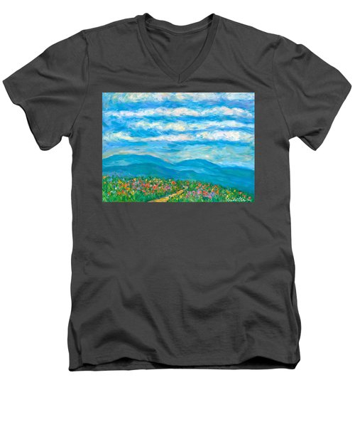 Flower Path To The Blue Ridge Men's V-Neck T-Shirt