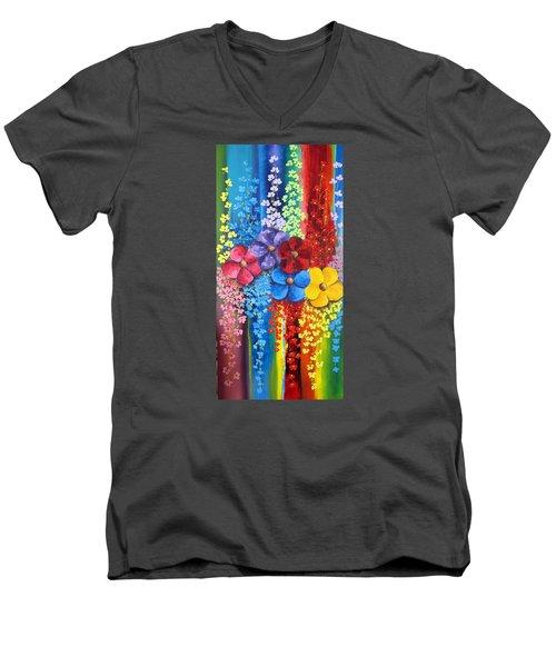 Flower Shower Men's V-Neck T-Shirt