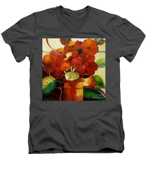 Flower Vase No. 3 Men's V-Neck T-Shirt