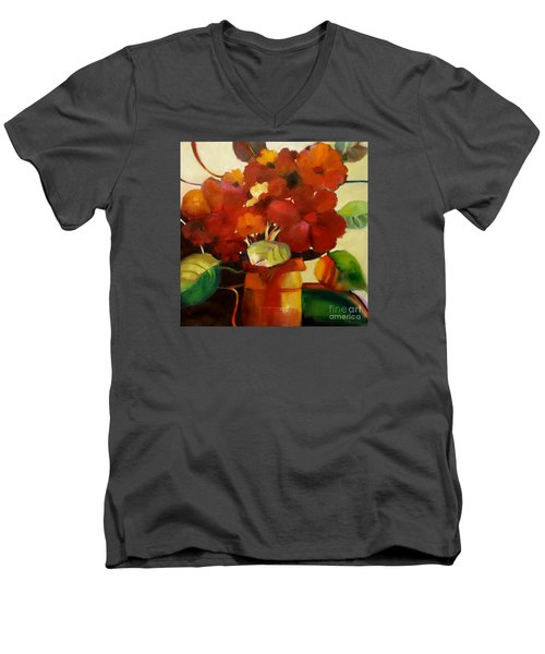 Flower Vase No. 3 Men's V-Neck T-Shirt