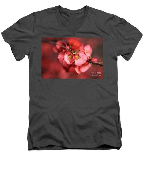 Flowering Quince Men's V-Neck T-Shirt