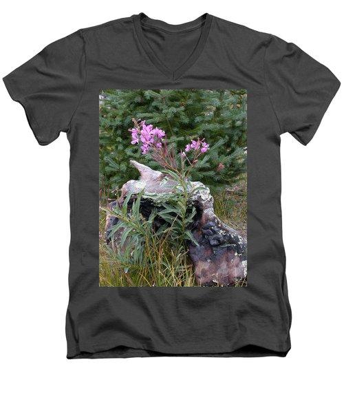 Flowering Stump Men's V-Neck T-Shirt