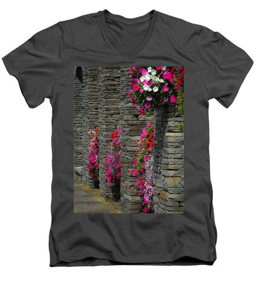 Flowers At Liscannor Rock Shop Men's V-Neck T-Shirt