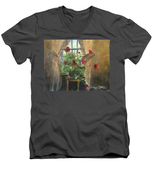 Flowers By The Window Men's V-Neck T-Shirt