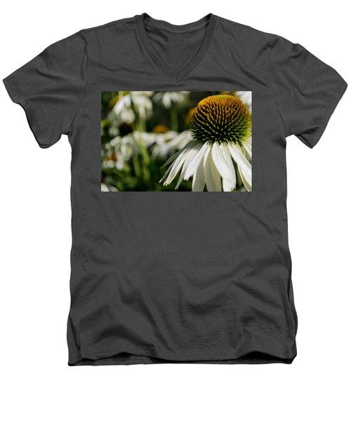 Flowers - Echinacea White Swan Men's V-Neck T-Shirt