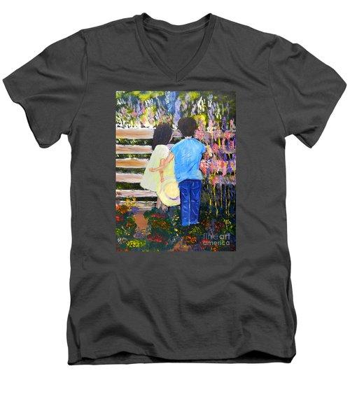 Flowers For Her Men's V-Neck T-Shirt