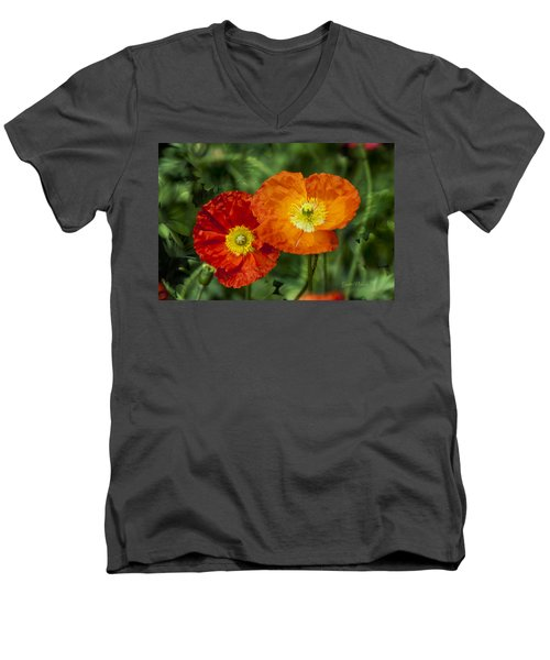Flowers In Kodakchrome Men's V-Neck T-Shirt