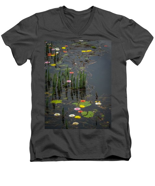 Flowers In The Markree Castle Moat Men's V-Neck T-Shirt