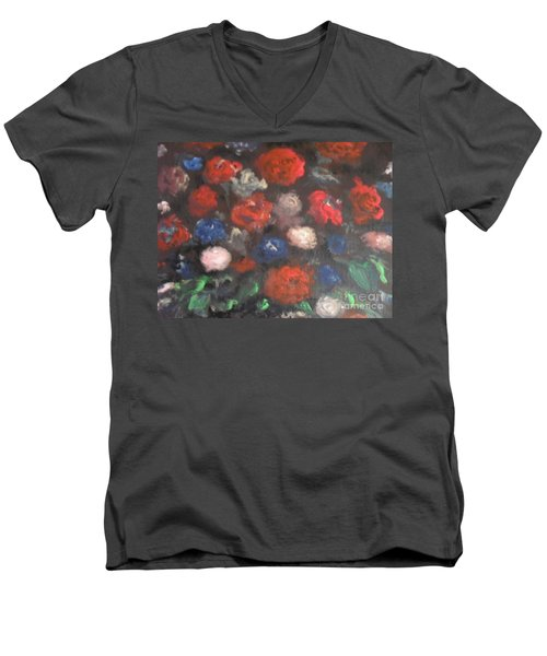 American Floral Men's V-Neck T-Shirt