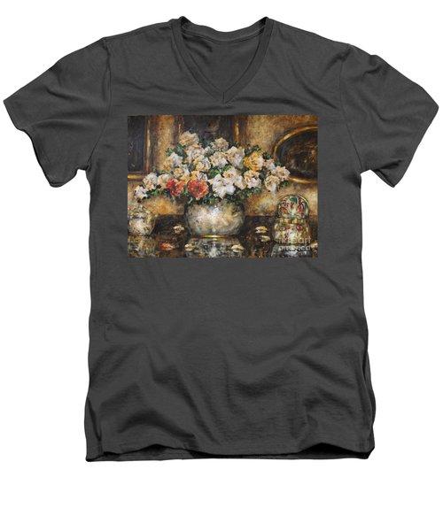 Flowers Of My Heart Men's V-Neck T-Shirt