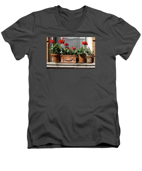 Men's V-Neck T-Shirt featuring the photograph Flowers Of New York by Ira Shander