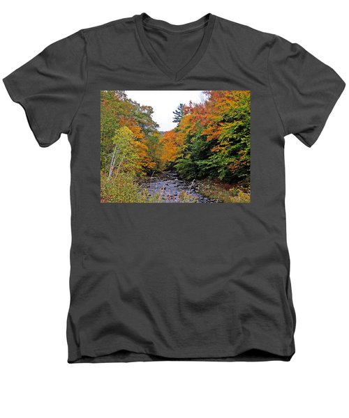 Flowing Into October Men's V-Neck T-Shirt