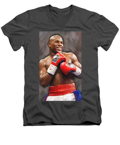 Floyd Mayweather Artwork Men's V-Neck T-Shirt