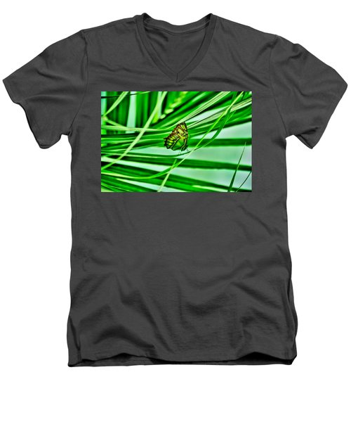 Flutter By Men's V-Neck T-Shirt