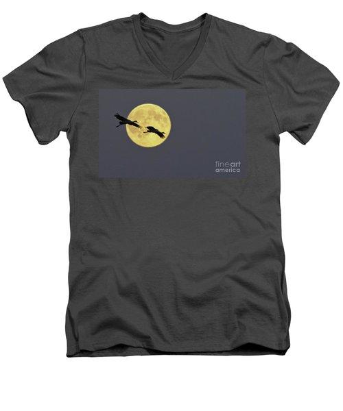 Moonlight Flight Men's V-Neck T-Shirt
